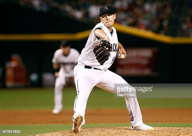 Starting pitcher Patrick Corbin of the Arizona Diamondbacks pitches against the Los Angeles Dodgers during the fourth inning of a MLB game at Chase...