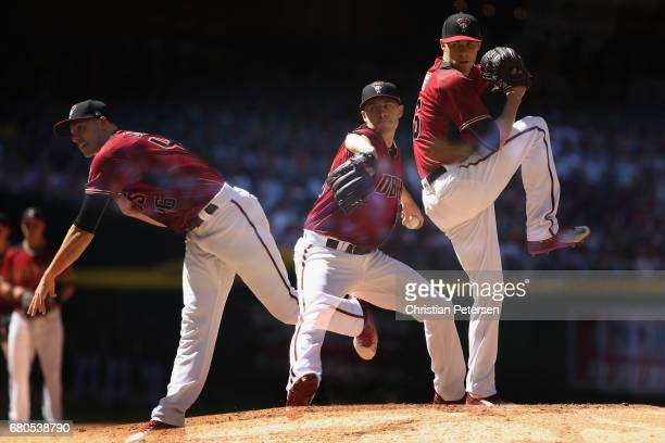 Starting pitcher Patrick Corbin of the Arizona Diamondbacks pitches against the Colorado Rockies during the MLB game at Chase Field on April 30 2017...