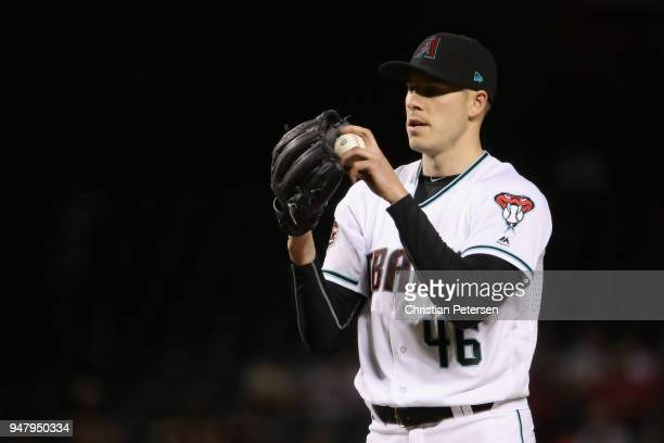 Starting pitcher Patrick Corbin of the Arizona Diamondbacks pitches against the San Francisco Giants during the sixth inning of the MLB game at Chase...