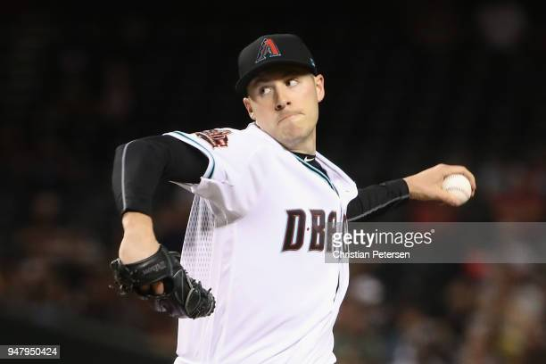 Starting pitcher Patrick Corbin of the Arizona Diamondbacks pitches against the San Francisco Giants during the fifth inning of the MLB game at Chase...