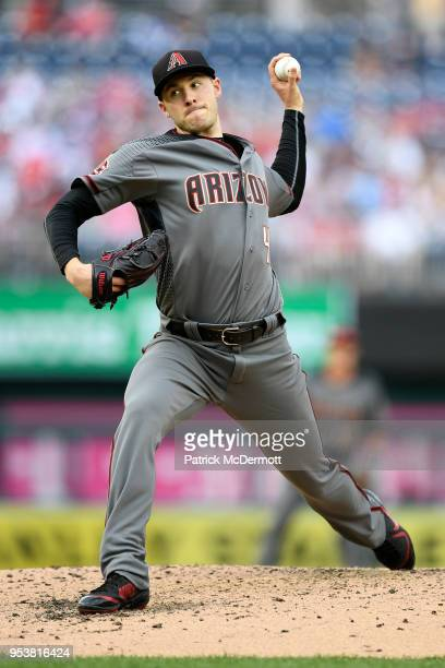 Starting pitcher Patrick Corbin of the Arizona Diamondbacks pitches in the fourth inning against the Washington Nationals at Nationals Park on April...