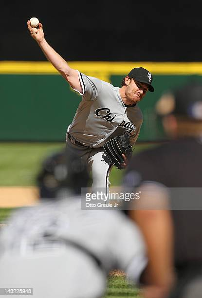 Starting pitcher Philip Humber of the Chicago White Sox pitches in the eighth inning of a perfect game against the Seattle Mariners at Safeco Field...