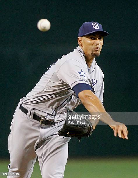 Starting pitcher Tyson Ross of the San Diego Padres delivers a pitch against the Arizona Diamondbacks during the second inning of a MLB game at Chase...