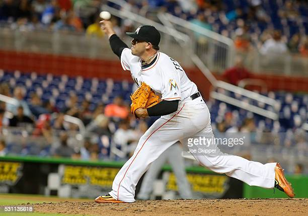 Starting pitcherJose Fernandez of the Miami Marlins throws against the Milwaukee Brewers at Marlins Park on May 9 2016 in Miami Florida