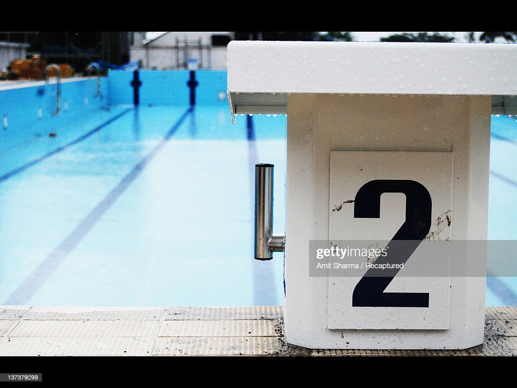 Starting platform pool : Stock Photo