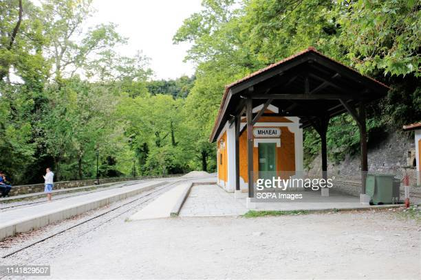 Starting point of the little passenger train that does a run around the villages seen in Pelion The Greek region of Pelion is named after the...