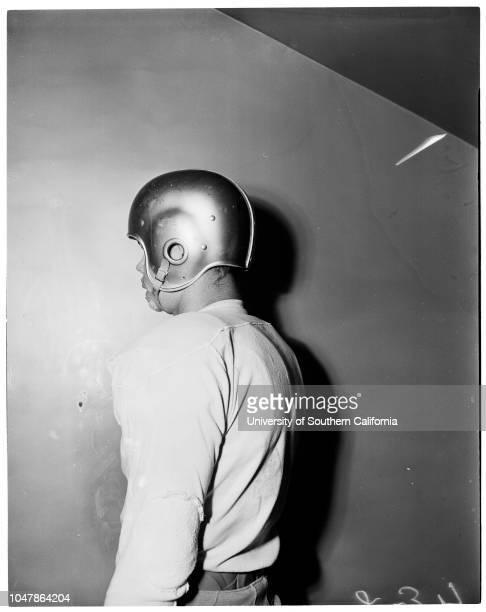 Starting University of California Los Angeles team for Rose Bowl December 14 1955 Jim DeckerBob BergdahlJohn SmithJim BrownJohn HermannSteve...