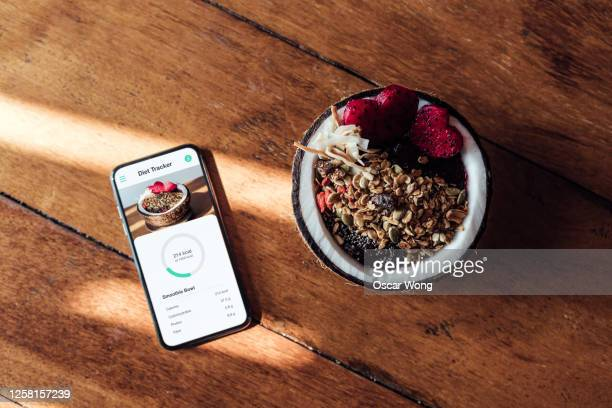 starting your day with a healthy vegan breakfast - table stock pictures, royalty-free photos & images