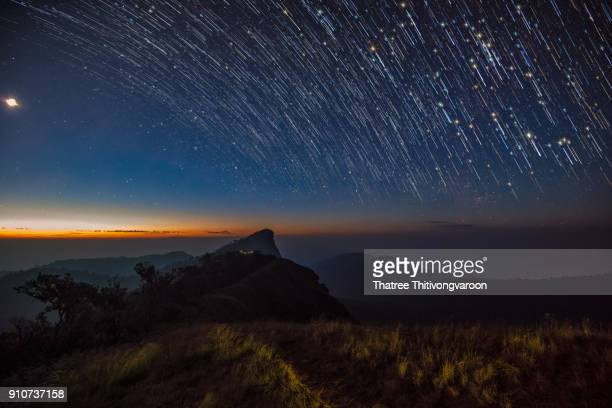 Startrails of travel place in Thailand, Mon Jong, Om koi, Chiang Mai
