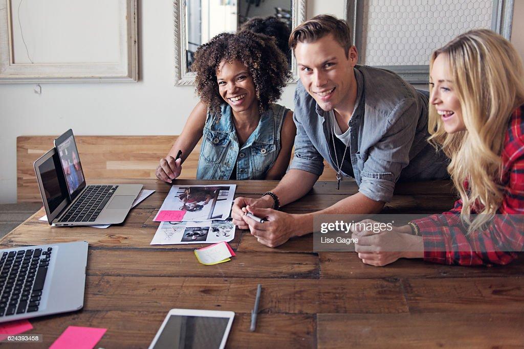Startup Business online meeting : Foto de stock