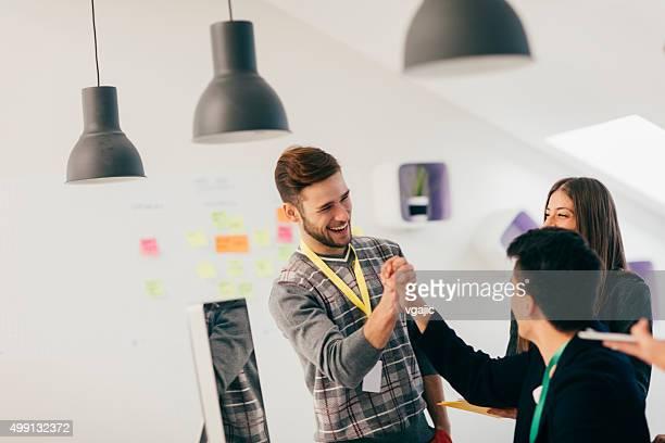 Start-Up Business Team High Five.