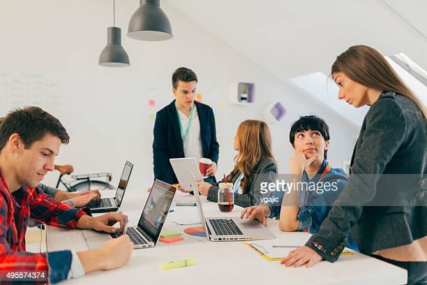 Start-up Team di Sviluppo di collaborazione.