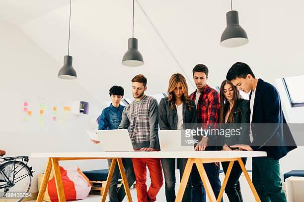 Start-up Development Team Collaborating.
