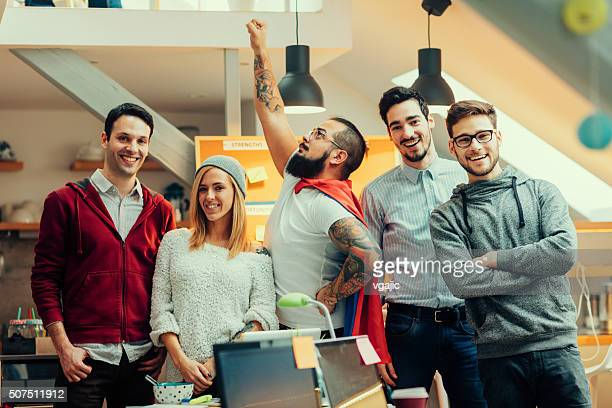 startup programmers team portrait. - hero stock photos and pictures