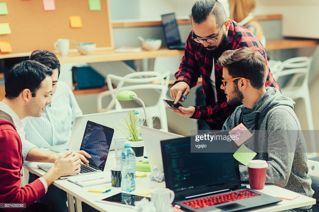 StartUp Programming Team. : Stock Photo