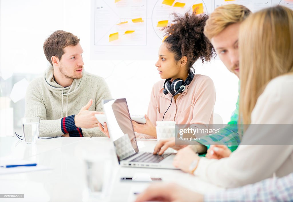 Start-up Team : Stock Photo