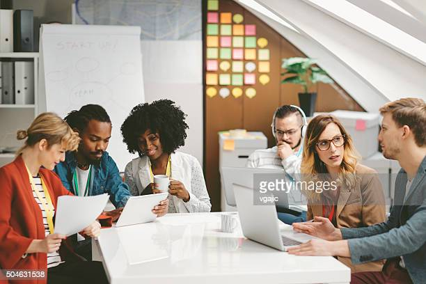 Startup Team Working in the Office