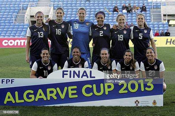 StartuUp team of USA Back Row Alex Morgan Yael Averbych Nicole Barnhart Sydney Lerooux Rachel byehler Kelley O'Hara Front Row Ali Krieger Shannon...