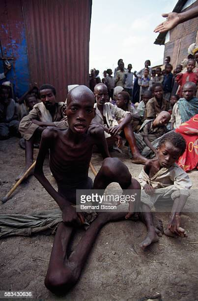 Starving Somali near Mogadishu Since 1988 the civil war disrupted the economy and food distribution In 1992 the UN launched a peacekeeping and...