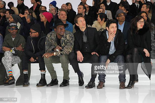 Starving Yet Full and Fritz Helder of the band Azari III Theophilus London Benn Northover Jeremie Elkaim and Valerie Donzelli attend the Dior Homme...