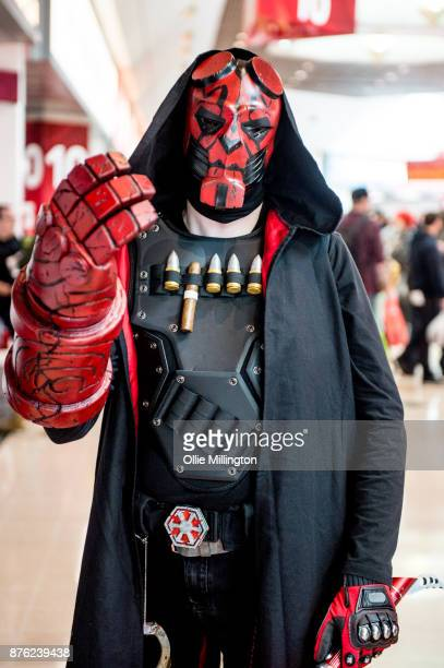 Starwars Hellboy cross over cosplayer seen during the Birmingham MCM Comic Con held at NEC Arena on November 19 2017 in Birmingham England