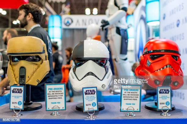 Starwars merchandise on display during 2017 New York Comic Con Day 1 on October 5 2017 in New York City