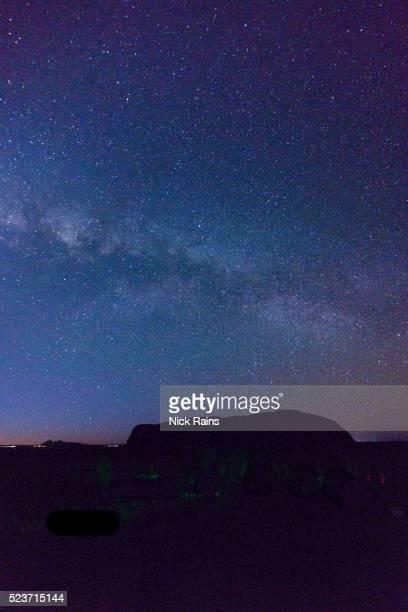 A stary sky over Uluru