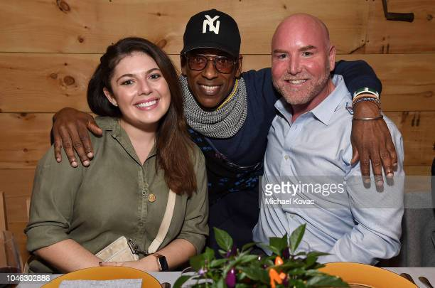 Starz Publicist Courtney Jacobs Orlando Jones and Starz SVP Publicity Jamie French attend the Starz NYCC 2018 Talent Dinner at Black Barn on October...