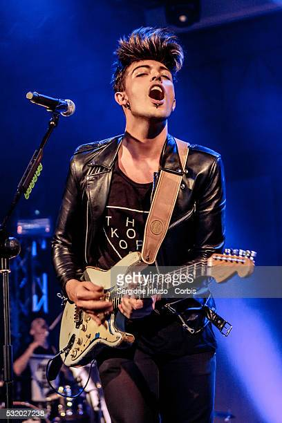 Stash Fiordispino of Italian electropop band The Kolors performs live at Alcatraz in Milan on May 16 2016 in Milan Italy