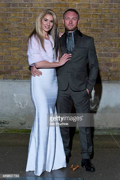 Stasha Lewis and Tony Lewis attends the private view of Stasha Palos: And The Stars Shine Down at Saatchi Gallery on December 2, 2014 in London,...