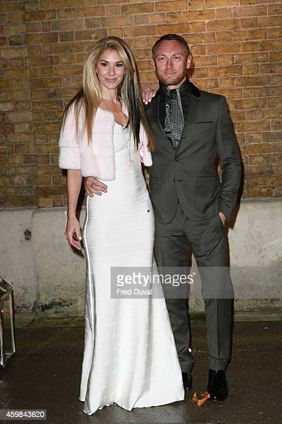 Stasha Lewis and Tony Lewis attends the private view of Stasha Palos' 'And The Stars Shine Down' at Saatchi Gallery on December 2, 2014 in London,...