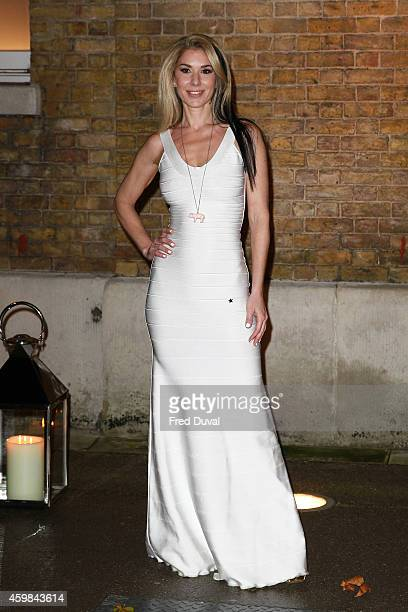 Stasha Lewis attends the private view of Stasha Palos' 'And The Stars Shine Down' at Saatchi Gallery on December 2, 2014 in London, England.