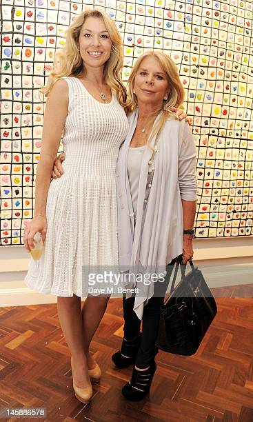 Stasha Palos and mother Tina Green attend a private viewing of 'Colour: An Exhibition By Stasha', featuring works by Stasha Palos, at The Gallery In...