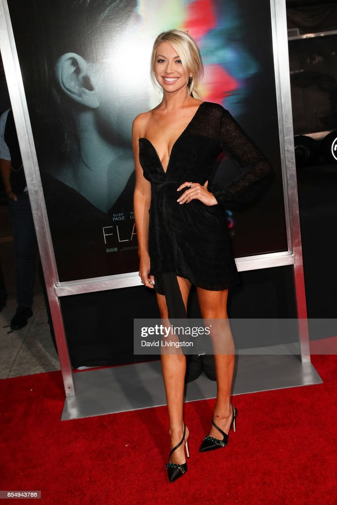 Stassi Schroeder attends the premiere of Columbia Pictures' 'Flatliners' at The Theatre at Ace Hotel on September 27, 2017 in Los Angeles, California.