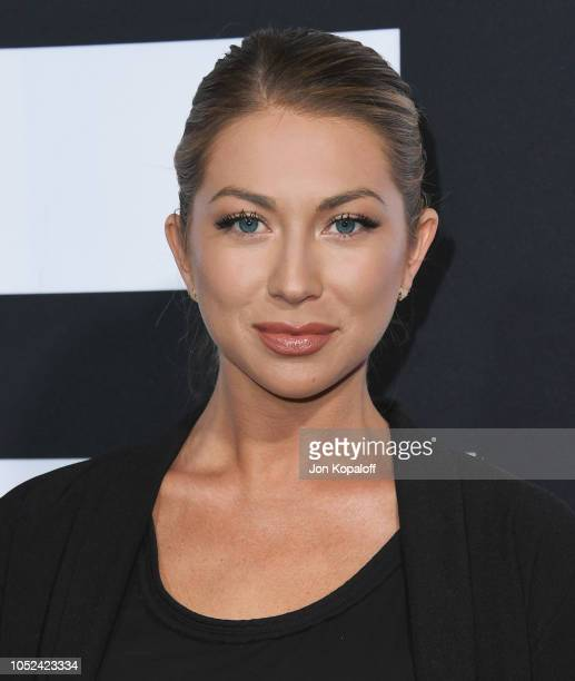Stassi Schroeder attends Universal Pictures' Halloween Premiere at TCL Chinese Theatre on October 17 2018 in Hollywood California