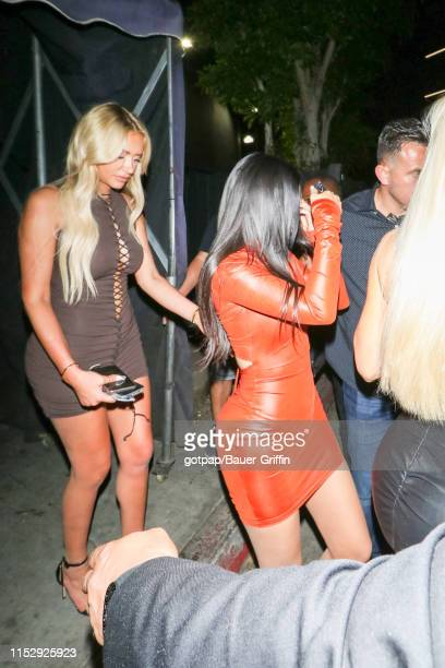 Stassie Karanikolaou and Kylie Jenner are seen on June 30 2019 in Los Angeles California