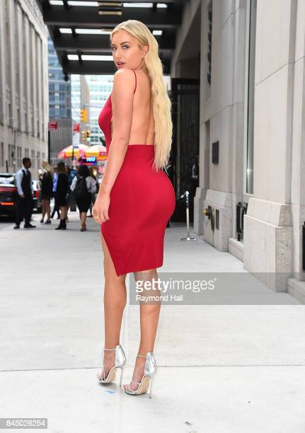 Stassie Karanikolaou is seen arriving at The Daily Front Row Fashion Media Awards New York Fashion Week on September 8 2017 in New York City