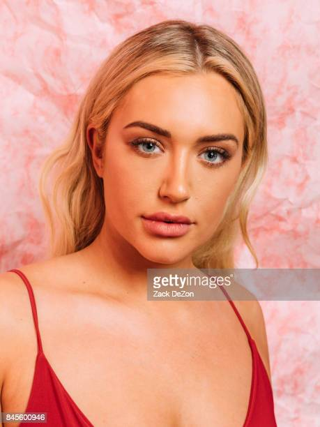 Stassie Karanikolaou poses for a portrait during the Daily Front Row's Fashion Media Awards at Four Seasons Hotel New York Downtown on September 8...