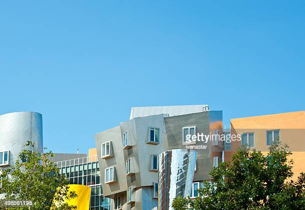 stata center on mit campus in cambridge, massachustets - massachusetts institute of technology stock pictures, royalty-free photos & images