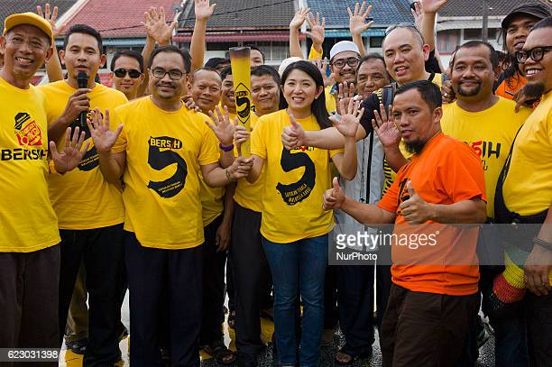 State Assembly woman Yeo Bee Yin with Malaysian NGOs and activist groups known as 'Bersih' convoy of 20 vehicles with about 70 people has arrived at...