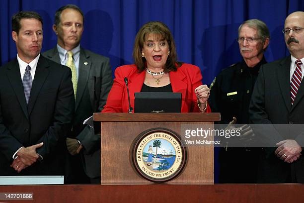 State Attorney Angela Corey holds a news conference to announce second degree murder charges to be brought against defendant George Zimmerman in the...