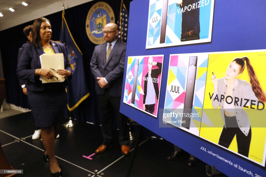 New York Attorney General James Makes Major Vaping Announcement : News Photo