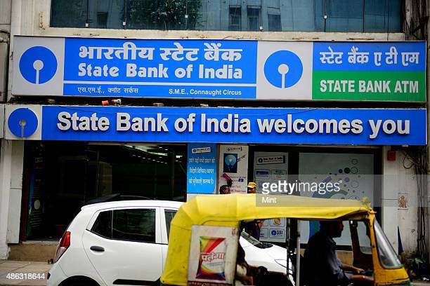 State Bank Of India Bank branch at Connaught Circus on August 15 2014 in New Delhi India Photo by Pradeep Gaur/Mint via Getty Images