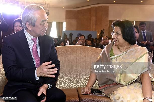 State Bank of India Chairman Arundhati Bhattacharya and Kenji Hiramatsu Japan Ambassador to India during an inauguration of SBI Japan Desk facilitate...