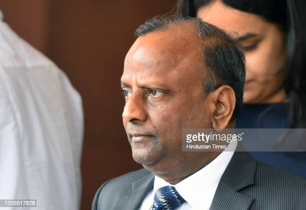State Bank of India Chairman Rajnish Kumar after meeting Finance Minister Nirmala Sitharaman regarding Yes Bank, which has been put under a...