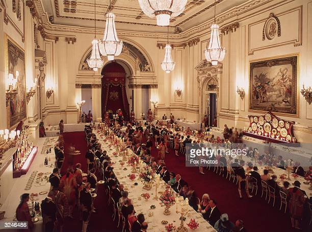 A state banquet at Buckingham Palace held in honour of President Kekkonen of Finland