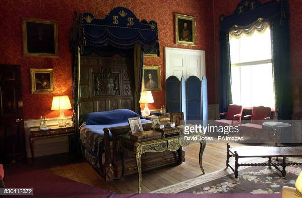 State bedroom at Althorp House, where Winston Churchill started to write his memoirs. Preparations are being completed for the reopening of the...
