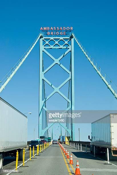 State Border to the USA - Ambassador Bridge Detroit