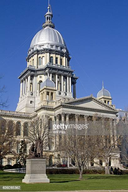 State Capitol Building Exterior Springfield Illinois USA