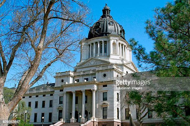 State capitol building in downtown Pierre in central South Dakota The state capital city of South Dakota is Pierre in the center of the state on the...
